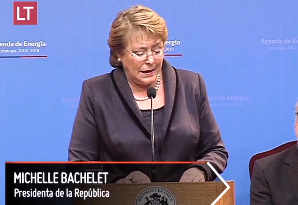 Michelle Bachelet da a conocer 7 Ejes de Agenda Energetica