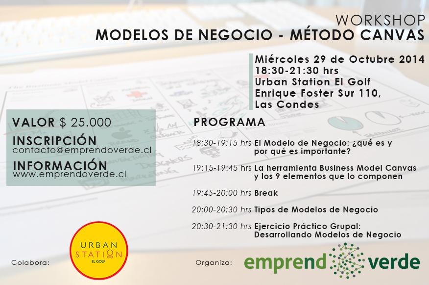 Workshop Modelos de Negocio Método Canvas MIE 29 de Octubre 2014