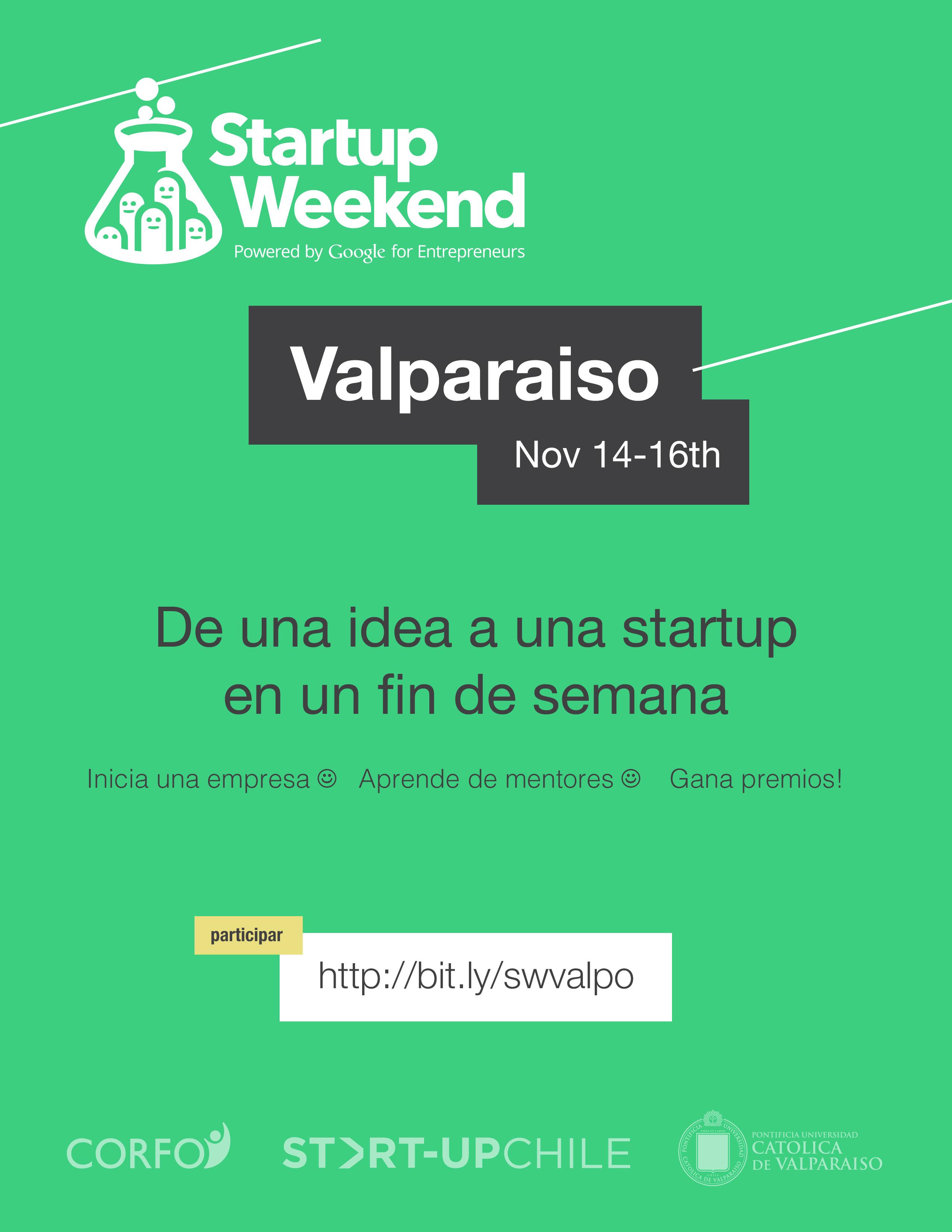 Startup Weekend Valparaíso 14-16 Novembre 2014