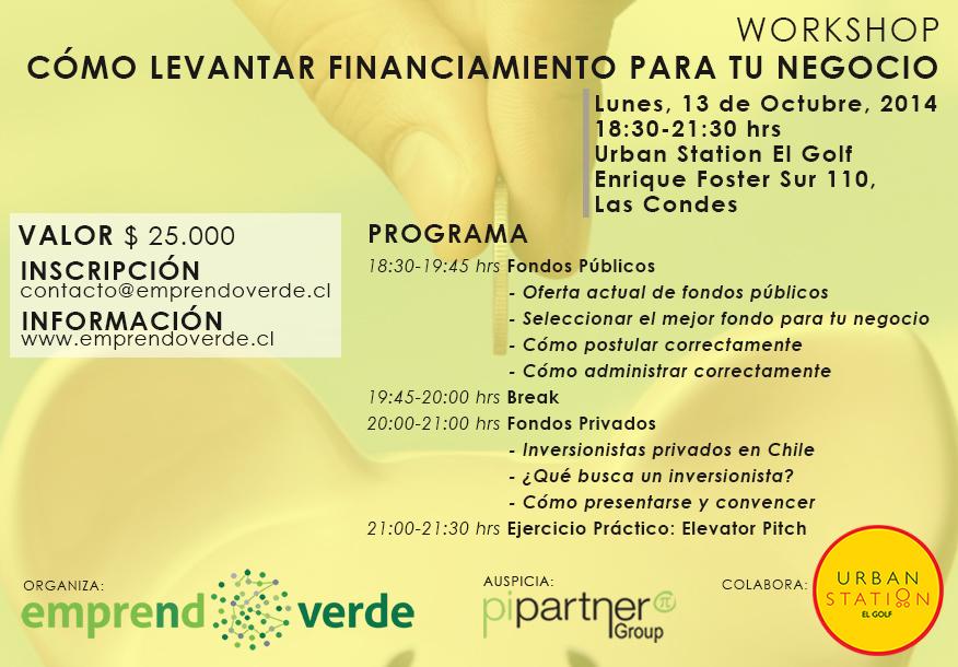 Workshop Levantar Financiamiento 13 de Octubre 2014 EmprendoVerde