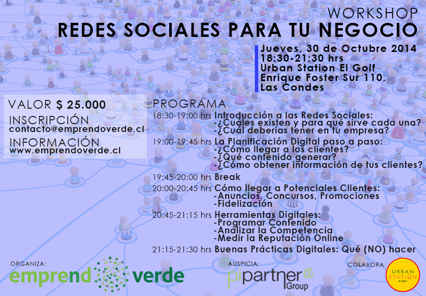 Workshop Redes Sociales 30 de Octubre 2014 EmprendoVerde