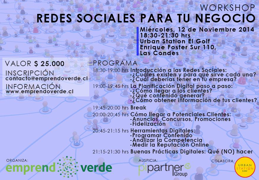 Workshop Redes Sociales MIE 12 de Noviembre 2014