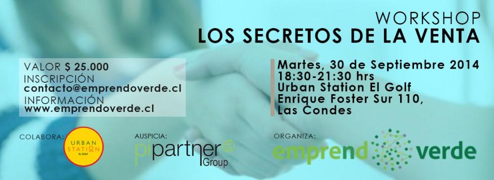 Workshop Secretos de la Venta 30 de Septiembre 2014 Banner