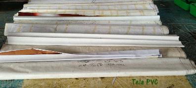 El daño de la tela PVC, luego de las campañas publicitarias TThalegacl Accesorios y Bolsa Reutilizable