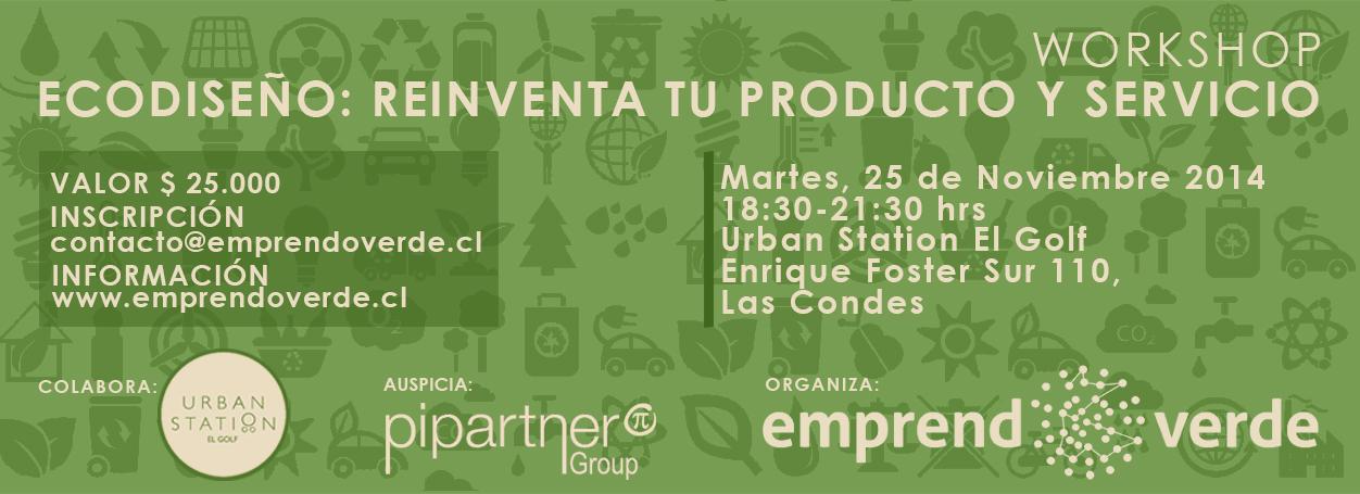 Workshop Ecodiseño MAR 25 de Noviembre 2014 EmprendoVerde Marcela Godoy